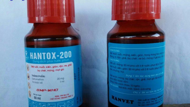 HANTOX-200: Thuốc diệt ruồi, muỗi, ve, ghẻ, bọ chét