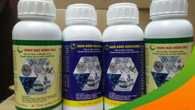 NANO BẠC ĐỒNG HLC: Đặc trị nấm, vi khuẩn, vi rút hại cây trồng
