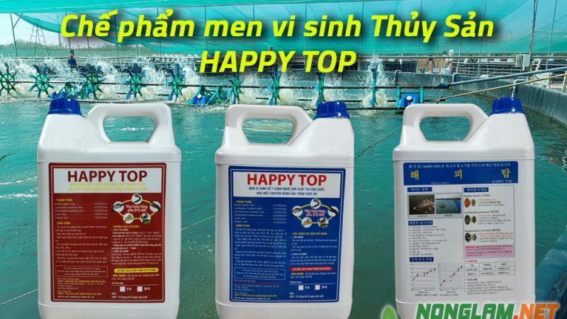 Happy Top: Men vi sinh xử lý nước ao tôm hiệu quả cao