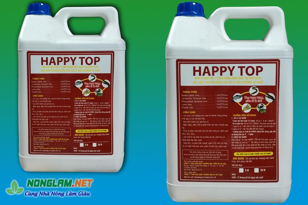 Men vi sinh xử lý nước ao nuôi tôm Happy Top